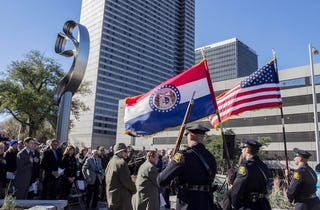 Photographs from the Hyatt Skywalk Memorial Dedication