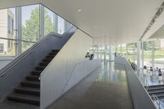 Interior aluminum balustrade and guardrail for DeBruce Center at KU.