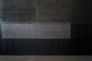 Interior detail of the donor list at Rosenthal Center.