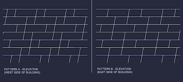 Two patterns for the custom shingle system.