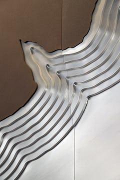 Detail of the Hyatt River Regency art wall joints.