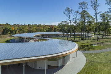 The River at Grace Farms, exterior anodized aluminum.
