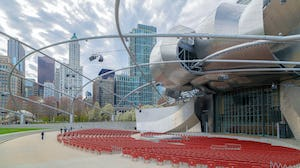 Pritzker Pavilion at Millennium Park. Zahner engineered and manufactured the complex canopy system.