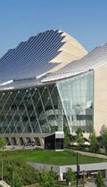 Kauffman Center designed by Moshe Safdie.