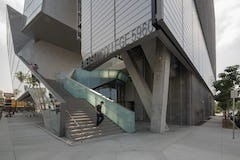 Entrance stairs to the Emerson College at Los Angeles.