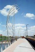 Rail and sculpture for Douglas Street Bridge