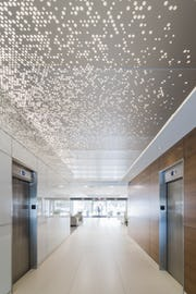 ImageWall can be used to create perforated ceilings.