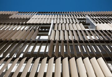 Upward view of the UCSF louvers.
