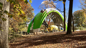 The Chrysalis nearing completion in Columbia, Maryland.