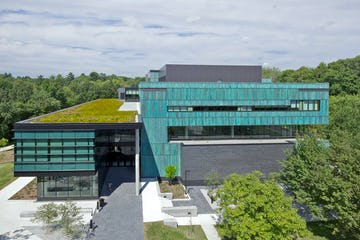 Overhead view of the new building at UTM.
