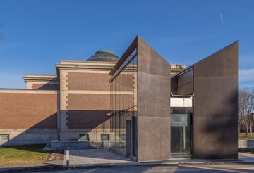 Photo of Bowdoin College Walker Art Center, clad in prepatinated bronze