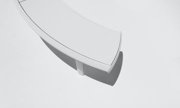 Aluminum Bench, in white.