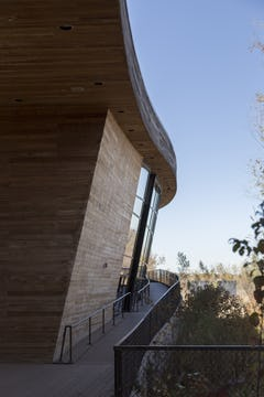 Detail of the Trinity River Audubon Center in Dallas, Texas