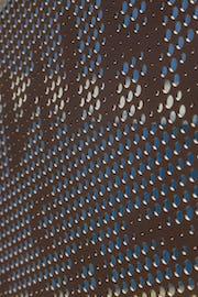 Solanum Steel perforated metal imagery.