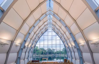 Interior photograph of the chapel at Rose-Hulman.