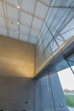 Interior metalwork for the Nerman Museum of Contemporary Art.