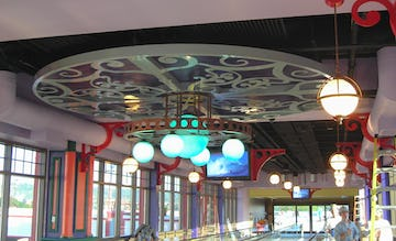 Argosy casino interior light fixture fabrication