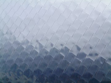 Detail of the Weatherhead School's metal patterned roof