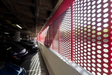 Parking Structure Screenwall at the Petersen Automotive Museum in Los Angeles, California.