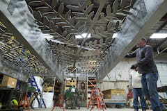Zahner fabricators pre-assemble the Hendrix-designed canopy in Kansas City.